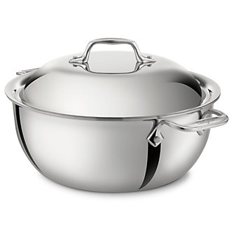 All-Clad Stainless Dutch Oven with Lid, 5.5qt