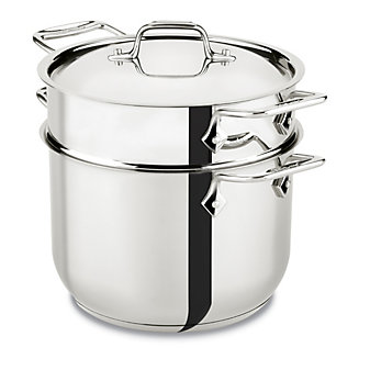 All-Clad Stainless Pasta Pentola with Insert, 6qt