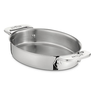 All-Clad Stainless 2-Piece Oval Bakers, 22oz