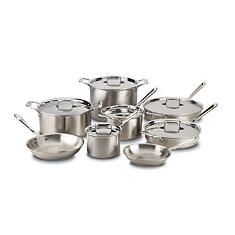 All-Clad Brushed Stainless D5 14 Piece Set