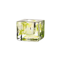 "Kosta_Boda_Lime_Brick_Votive,_H:_3""_W:_3_3/8"""