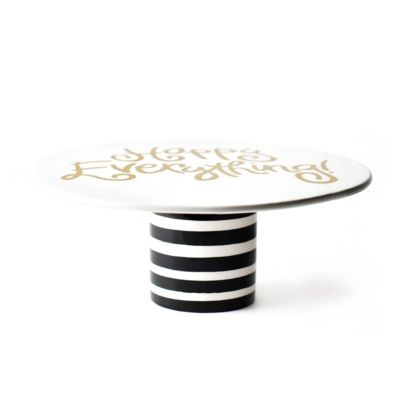 coton colors happy everything black stripe cake stand
