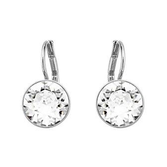 Swarovski Rhodium-Plated Bella Mini Pierced Earrings