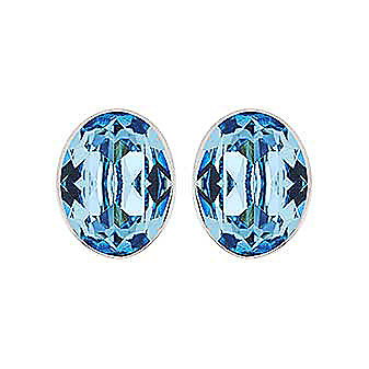Swarovski Bis Aquamarine Crystal Pierced Earrings