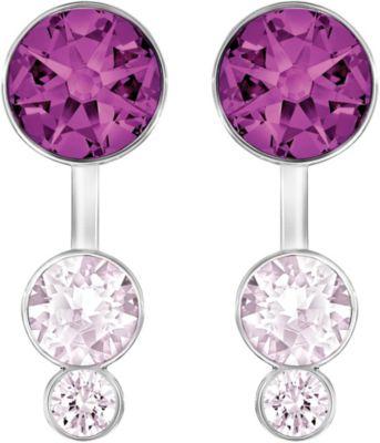Swarovski Slake Dot Pierced Purple Earring Jackets