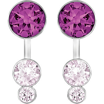 Swarovski Slake Dot Pierced Purple Earring Jackets