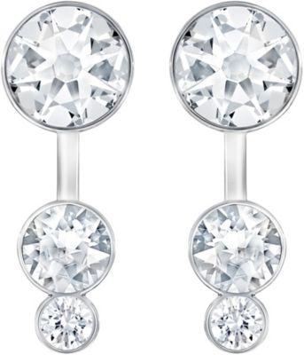 Swarovski Slake Dot Pierced Crystal Rhodium-Plated Earring Jackets