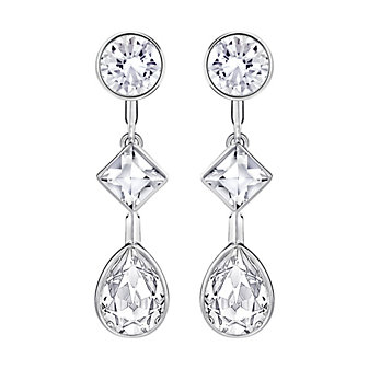 Swarovski Folk Two-Ways Round, Square, & Pear Crystal Drop Earring Jackets