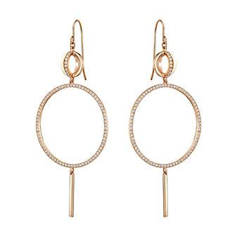 Swarovski Rose Gold-Plated Flash Dangle Earrings