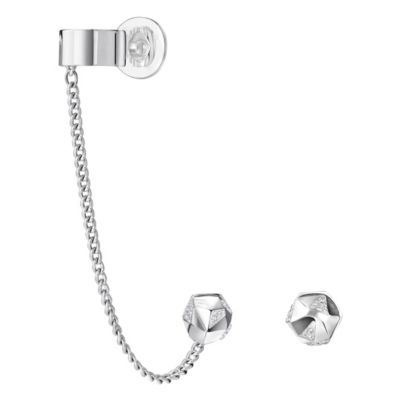 Swarovski JPG Reverse Earrings with Removable Ear Cuff