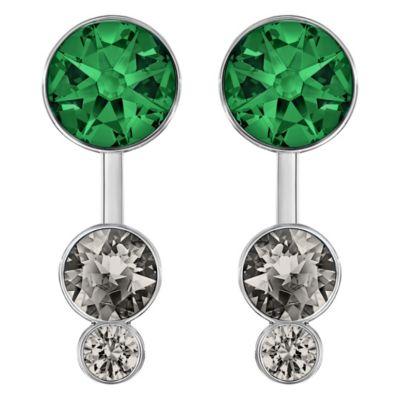 Swarovski Slake Dot Earrings with Removable Crystal Jackets