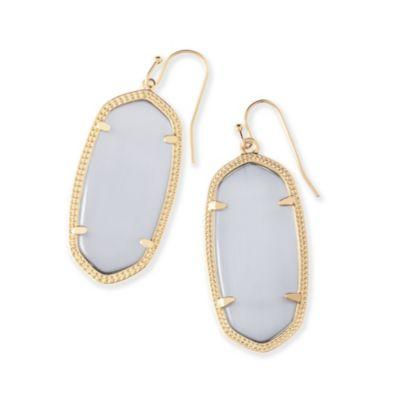 Kendra Scott Elle Gold Slate Cat Eye Earrings