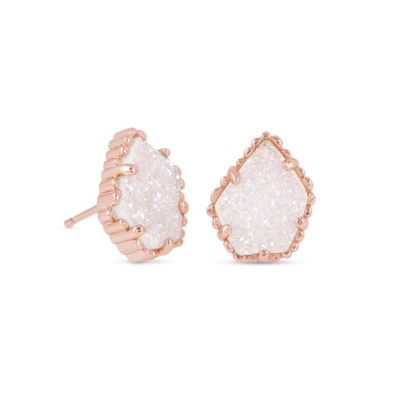 Kendra Scott Tessa Rose Gold Iridescent Drusy Earrings