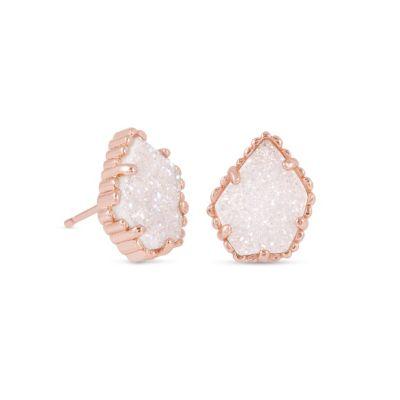 Kendra Scott Tessa Rose Gold Iridescent Drusy Earrings