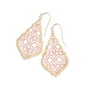 kendra scott addie earrings in rose gold