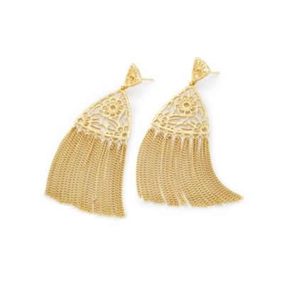 kendra scott ana yellow tone tassel earrings