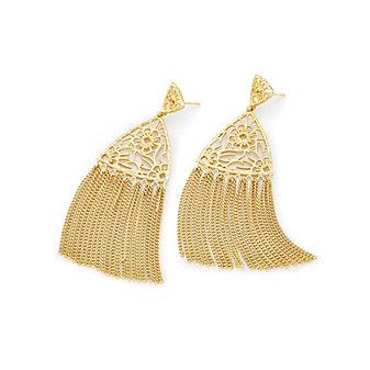 kendra scott ana yellow tone tassel earrings