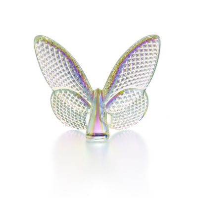 Baccarat Clear Iridescent Papillon Lucky Butterfly Diamant