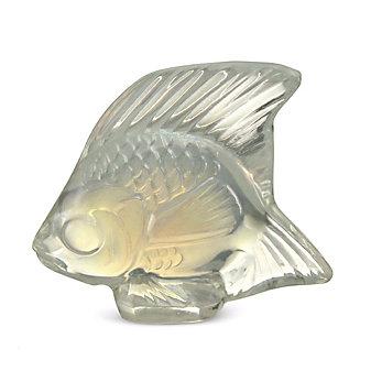 Lalique Opalescent Luster Fish Sculpture