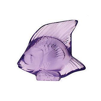 Lalique Light Purple Fish Sculpture
