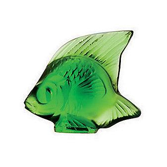 Lalique Green Meadow Fish Sculpture