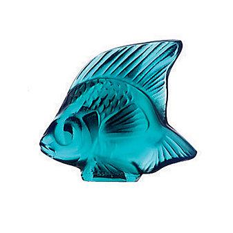 Lalique Turquoise Fish Sculpture