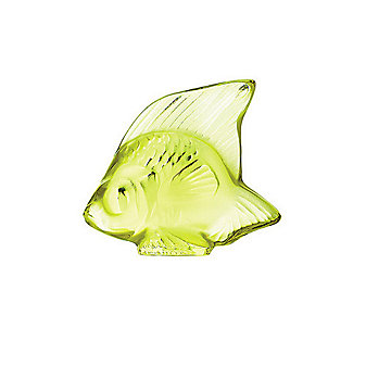 Lalique Anise Green Fish Sculpture