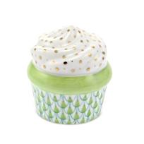 "Herend_Green_Cupcake,__1.25""L_X_1.5""H_"