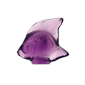lalique purple fish sculpture