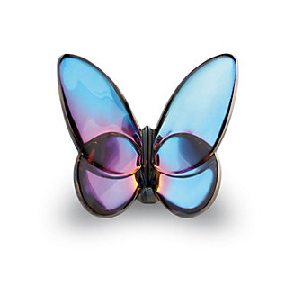 Baccarat Blue Scarabee Papillon Lucky Butterfly