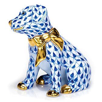 herend doggie dazzle, blue