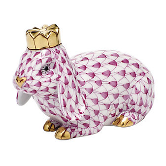 herend royal bunny in raspberry