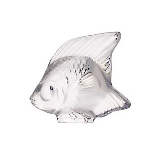 lalique fish figurine, clear