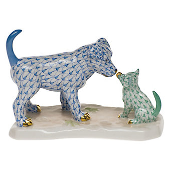 Herend Dog and Cat