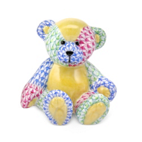"Herend_Multicolor_Small_Teddy_Bear,__2.5""L_X_2.5""H"