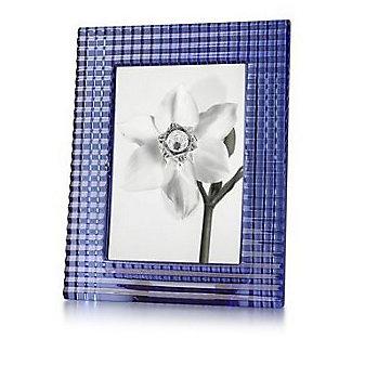 baccarat 5x7 eye frame blue