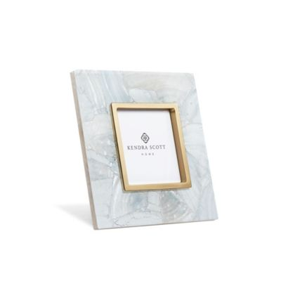 "kendra scott 4"" x 4"" photo frame in crackle white pearl"