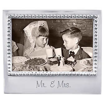 "Mariposa ""Mr. & Mrs."" Statement 4X6 Picture Frame"