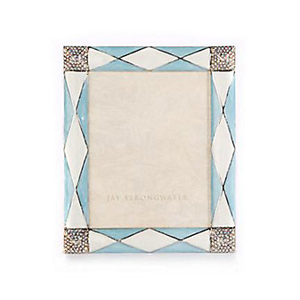 Jay Strongwater Alex Argyle 3X4 Frame - Blue