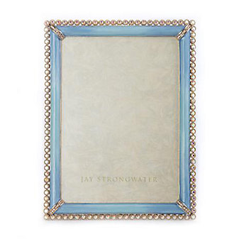Jay Strongwater Lucas 5X7 Frame - Periwinkle