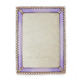 Jay Strongwater Lorraine 4X6 Frame - Lavender