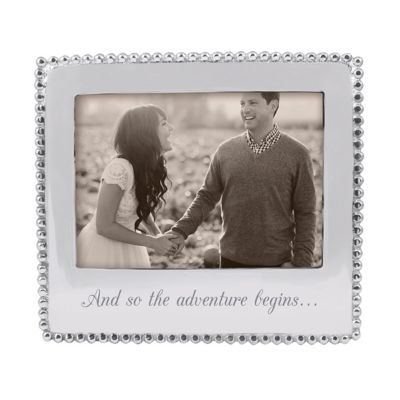 """mariposa """"and so the adventure begins"""" 5X7 picture frame"""