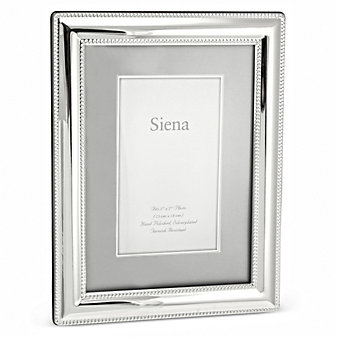 Tizo Siena Silverplate 5x7 Picture Frame