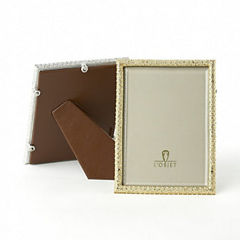 L'Objet 5x7 Gold Plated Picture Frame