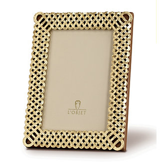 L'Objet Gold Plated Braid 2x3 Frame