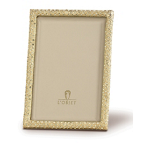 L'Objet_Gold_Plated_&_Crystal_2x3_Rectangular_Frame
