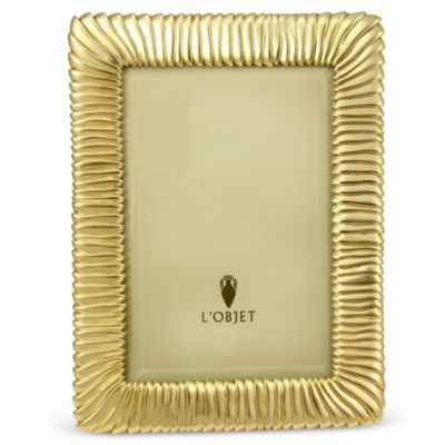 L'Objet_Pleated_Gold_4x6_Frame