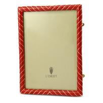 "L'objet_Red_Enamel_Frame,_5""_X_7"""