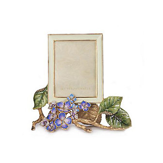 Jay Strongwater Colbie Hydrangea 3x4 Frame Flora
