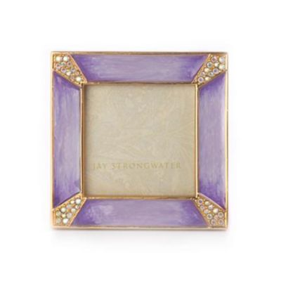 """Jay Strongwater Leland 2"""" Square - Lavender"""
